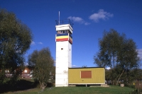 ehemaliger Beobachtungsturm an der Elbe