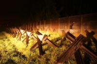 Grenzanlagen im Scheinwerferlicht