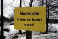 Schutzstreifen - Betreten verboten!