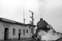 Dampflokomotive am Verschiebebahnhof von Bad Schandau in der DDR, 50er Jahre