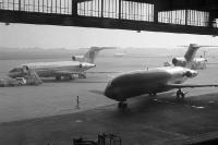 Flugzeuge der US-Airline Panam auf dem Flughafen Berlin-Tempelhof, 1960er Jahre
