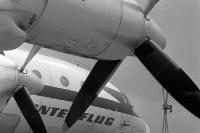 Propellerflugzeug der DDR-Fluglinie Interflug, 60er Jahre