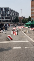 Räumfahrzeug der Polizei in Hamburg