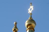 Davidstern auf der Synagoge in Berlin