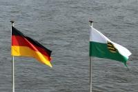 Flagge von Deutschland & Freistaat Sachsen