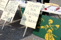 Protest gegen den Völkermord in Tschetschenien