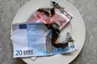 Geld wird verbrannt ...