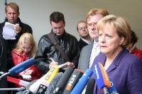 Bundeskanzlerin Angela Merkel in Hohenschönhausen