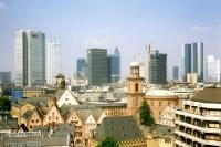 Skyline von Frankfurt am Main 1991