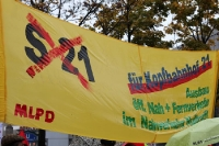 Transparent auf der Montagsdemo: Gegen Stuttgart 21