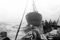 Fischfang auf hoher See, Fischerei auf der Ostsee, 50er Jahre