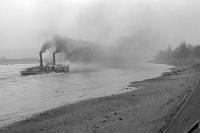 Dampfschiff auf dem Rhein, 50er Jahre