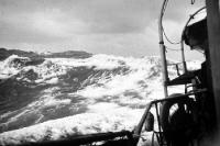 Hohe Wellen und Sturm auf der Ostsee, 50er Jahre