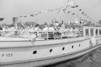 Passagierschiff der Weißen Flotte in Ostberlin, 60er Jahre