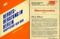 Berufsberatung in Berlin, Hauptstadt der DDR