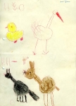 Zeichnungen aus dem Kindergarten