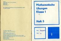 Mathematische Übungen Klasse 1 der POS in der DDR