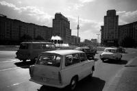 Straßenverkehr am Strausberger Platz, 1971