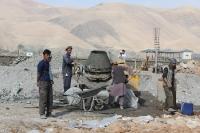Baustelle in der Nähe von Faizabad (Feyzabad, Fayz Abad), Islamische Republik Afghanistan