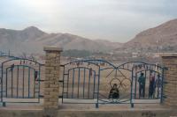 Staubiger Sportplatz in der afghanischen Hauptstadt Kabul, Islamische Republik Afghanistan