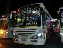 Reisebus von Kenia nach Ruanda