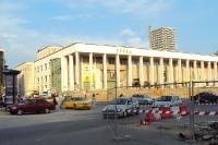 Unterwegs im Stadtzentrum der albanischen Hauptstadt Tirana, Albanien