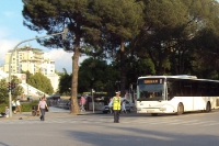 Unterwegs in der albanischen Hauptstadt Tirana, Albanien