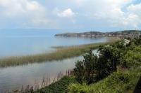 Am Ufer des Ohrid-Sees an der Grenze zwischen Albanien und Mazedonien