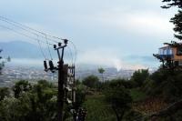 Luftverschmutzung über Elbasan, Albanien