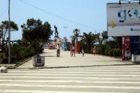 Die Stadt Durres am Adriatischen Meer, Albanien