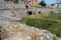 Historische Spuren in der Stadt Durres am Adriatischen Meer