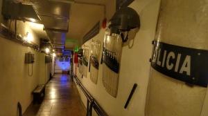 Polizeiausrüstung in einem Museum