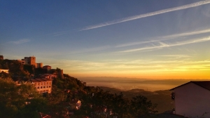 Sonnenuntergang in Albanien