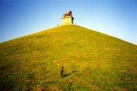 Der Denkmal-Hügel von Waterloo in Belgien bei Brüssel