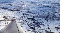 Winterlandschaft vom Flugzeug aus
