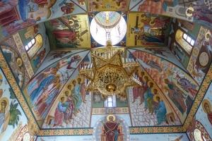 Wandbemalung in einer Kirche