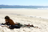 relaxt am Strand von Australien ...