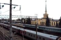 Der Bahnhof der russischen Stadt Petrosawodsk
