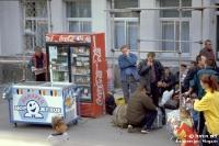 Der Bahnhof von Tjumen in Russland