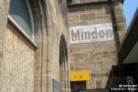 Bahnhof von Minden in Nordrhein-Westfalen (Deutschland)