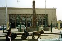 Bahnhof von Luxor am Nil im südlichen Ägypten