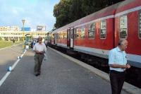 Auf dem Bahnhof von Durres in Albanien