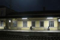 Bahnhof von Lehrte (Niedersachsen) bei Nacht