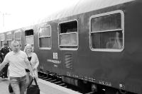 Reichsbahn-Waggon im Jahre 2012 ...