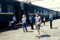 Provinzbahnhof in Sibirien (Russland) an der Strecke der Transsibirischen Eisenbahn