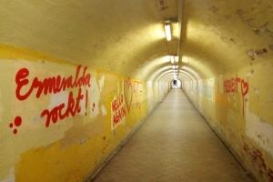 Tunnel im Bahnhof von Cottbus