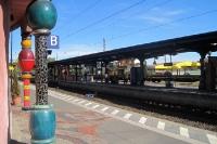 Bahnhof Uelzen (Niedersachsen) im Hundertwasser-Stil