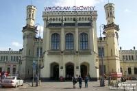Bahnhof von Breslau - Wroclaw Glowny (Polen)
