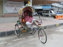 Rikschas in Dhaka