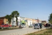 Kleine Geschäfte in einer Straße der bolivianischen Stadt Villazón